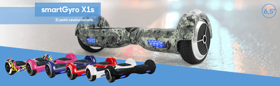 Hoverboard smartgyro X1s disponible en varios colores